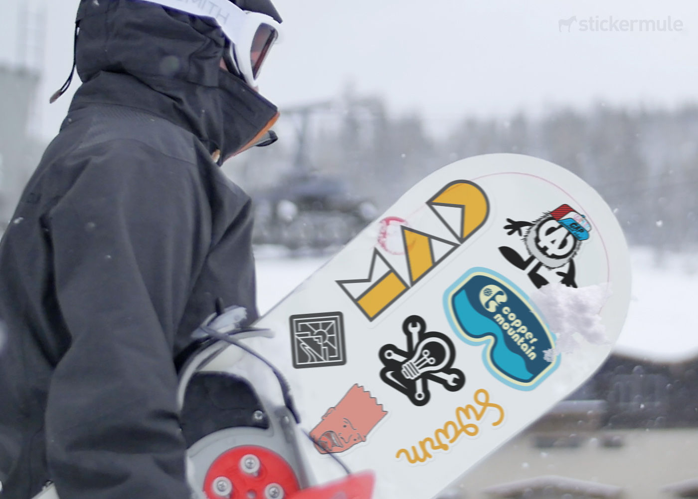Snowboard stickers