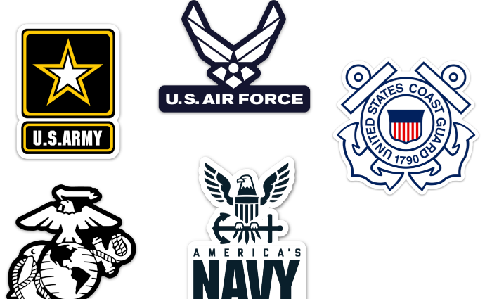 Logos of US Military branches